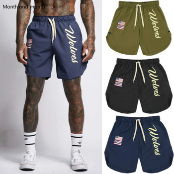 Male Pants Gyms Fashion Fitness Shorts Bodybuilding Joggers Men Casual Beach Brand Cotton Sweatpants Quick-dry Track Short