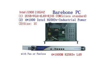 1U j1900 firewall router pfsense PC x86 server pc with  celeron J1900 quad core four thread thin client/linux