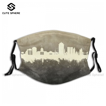 Swag Sublimation Montgomery Alabama Skyline Face Mask Fashion Adults Polyester Facial Mouth Mask With Filters image