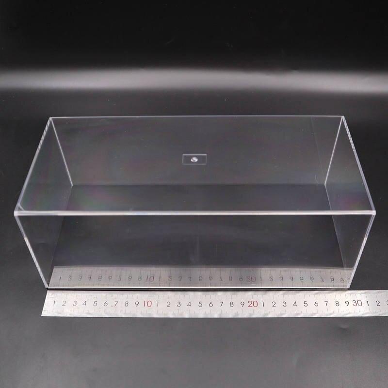 Modelo de carro acrílico caso transparente dustproof com base preta 1/64 1/43 1/32 1/18 1/24 escala caixa exibição alta qualidade