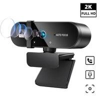 2K Webcam 1080 P Für PC Web Kamera Cam USB Online Webcam Mit Mikrofon Autofokus Volle Hd 1080 P web Können Webcan Für Computer