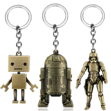 Robot Keychain Key-Ring Jewelry Trinket Collections Gift Movie Women 70-Styles Spaceship-Opener