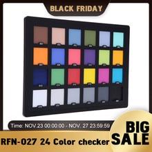 Andoer Professionele 24 Kleur Checker Palet Board Card Test Voor Superieure Digitale Kleur Correctie Voor Balanceren Fotobewerking