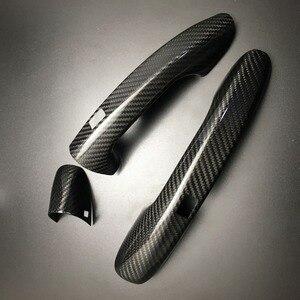 Image 4 - Auto Carbon Faser Türgriff Abdeckung Trim Für Benz C E S GLC GLE Klasse W205 W213 X253 W222 RHD