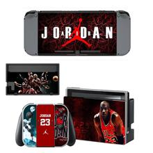 Nintendoswitch Sticker Protector Wrap Skin Decal for Nintendo Switch Full Set Faceplate Jordan Stickers Console Joy-Con Dock