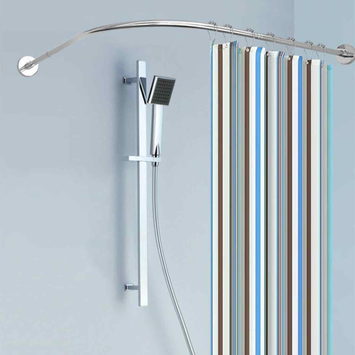 Expandable Curved Shower Curtain Rod 31 47inch Bath Tub