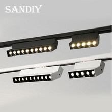 20W Track Light Spotlight Dimmable Wall Lighting AC85-265V LED Rail Lamps for Clothing Shoes Shop Stores Indoor Home Lighting