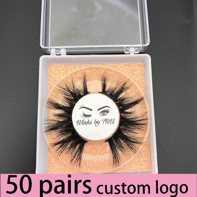 Custom box MIKIWI 24 Styles 100% handmade natural thick  long false eyelash 5D soft dramatic Eye lashes high volume makeup tools 1