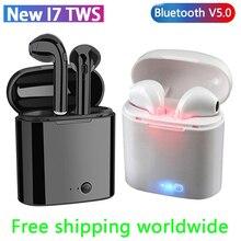 Bluetooth наушники i7s TWS мини беспроводные Bluetooth 5,0 наушники стерео вкладыши гарнитура с зарядным устройством микрофон для iPhone Android