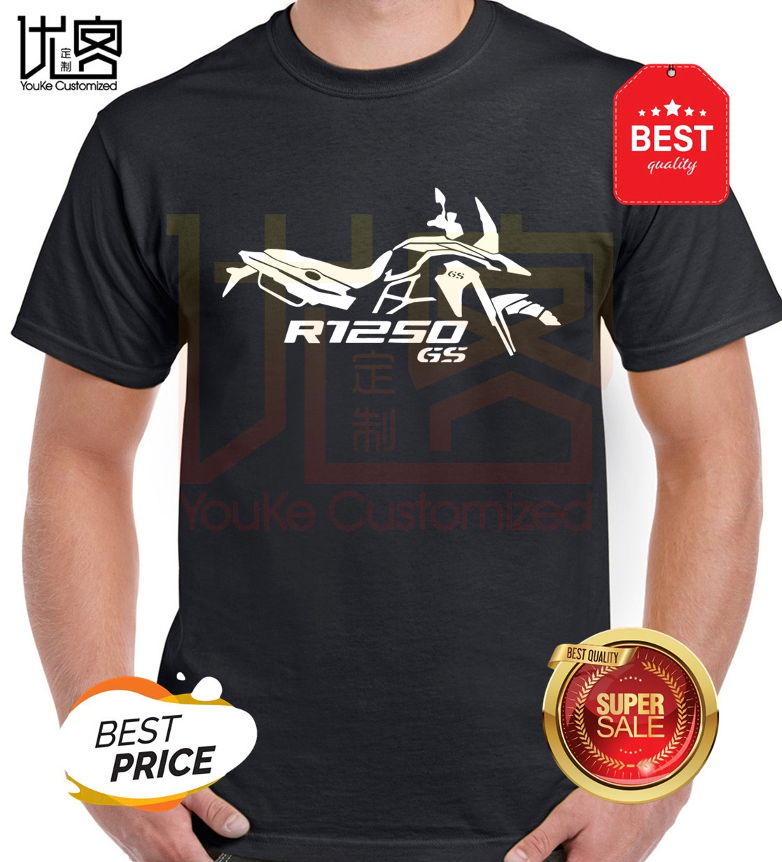 new r1250 <font><b>gs</b></font> motorbike <font><b>tshirt</b></font> motorcycle tee fast race biker top gp sport f1 men's women's 100% cotton short sleeves tops tee image