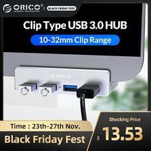 ORICO klip tipi USB3.0 HUB alüminyum harici çoklu 4 port USB Splitter adaptörü masaüstü Laptop için bilgisayar aksesuarları (MH4PU)