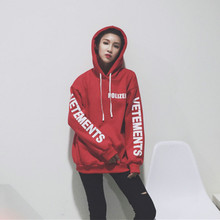 Sweatshirts Women Letter Print Hip Hop Casual Pullover Hooded Hoodies Streetwear 2019 Fashion Tops