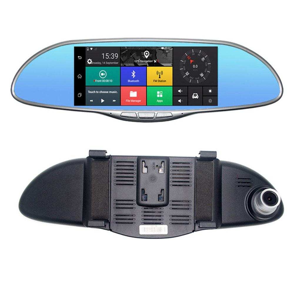 Vehemo Vision nocturne double lentille rétroviseur numérique enregistreur vidéo réviseur miroir caméra universel écran tactile photographie