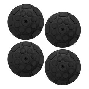 4 Pcs Car Round Rubber Arm Pads Auto Jacking Lift Pads Weightlifter Accessories Very thick very durable High quality assurance