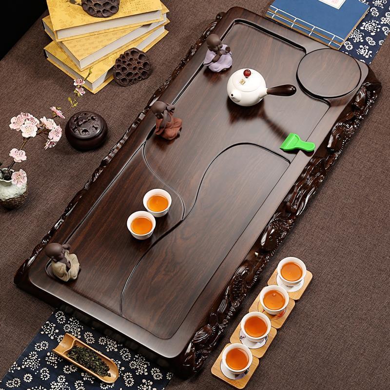 Image 3 - De Service Table Serviertablett Puer Bandeja High Accessories Vassoio Da Portata Kung Fu Gongfu Holder Chinese Tea TrayTea Trays   -