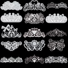DiyArts Lace Flower Frame Metal Cutting Dies craft stencil templates for diy scrapbooking Album Embossing Paper Card Decor New naifumodo circle dies metal cutting dies scrapbooking lace frame craft dies diy album for card making decor paper new 2019