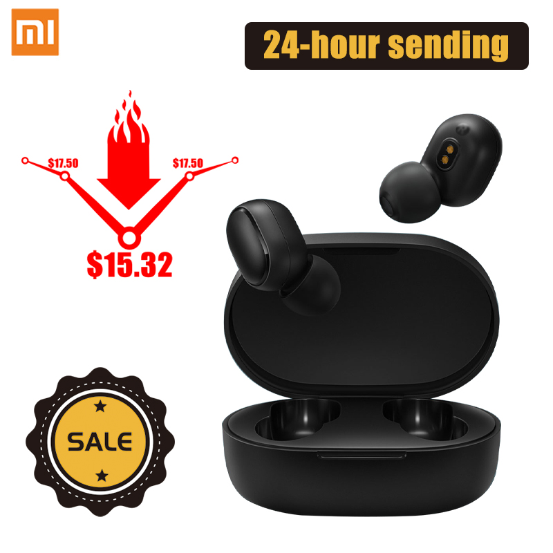 Xiaomi Original Redmi AirDots Wireless Bluetooth Earphone TWS In-Ear Stereo Earbuds Bluetooth 5.0 Handsfree With Mic Headset