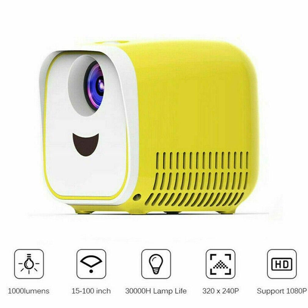 Mini Pocket 1000 Lumens Projector LED Home Theater Cinema HD 1080p USB HDMI TF Portable Led Support Hd