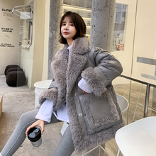 100% real wool coat winter women 90% white duck down jacket