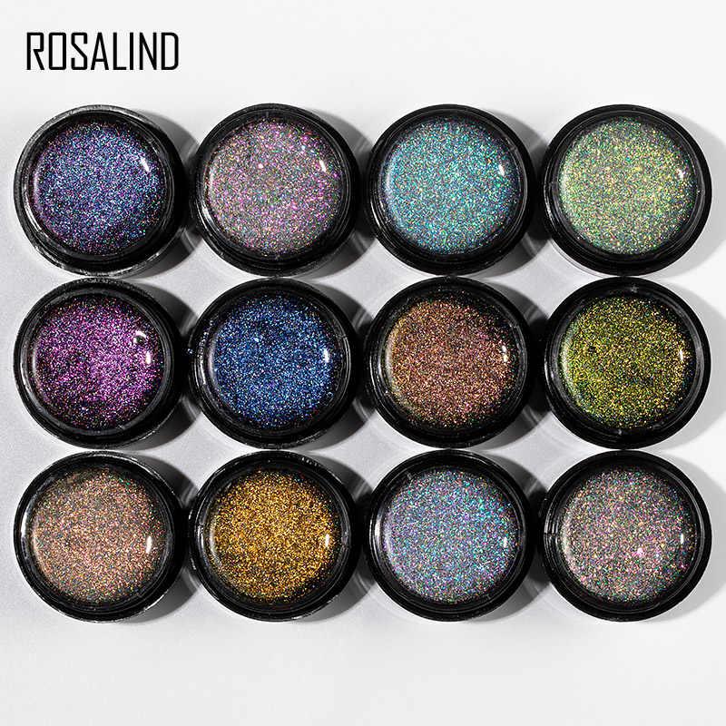 ROSALIND 5ml Starry ดอกไม้ไฟเล็บเจล Bright สำหรับ Glitter Nail Art Design POLY TOP BASE Primer สำหรับเล็บ