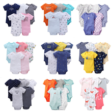 Malapina 5PCS Baby Rompers 2020 Short Sleeve 100%Cotton over