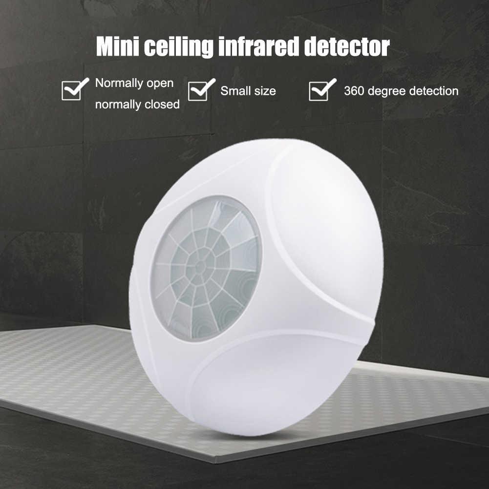 360 градусов Мини Инфракрасный Детектор потолочное крепление офис PIR датчик движения Охранная Проводная домашняя охранная сигнализация круглый