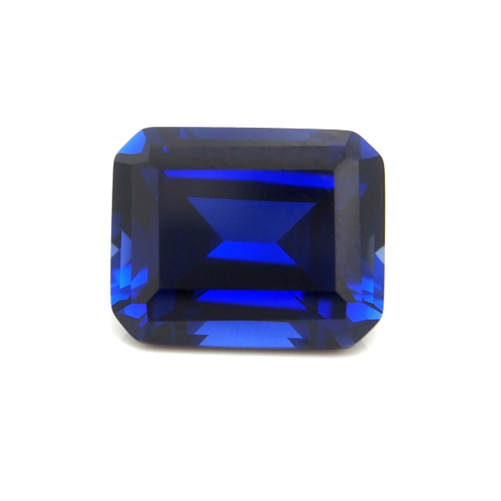 10*14mm 2 Piece /alot Top Quality Blue Sapphire emerald cut Loose Gemstone for BIY jewelry making