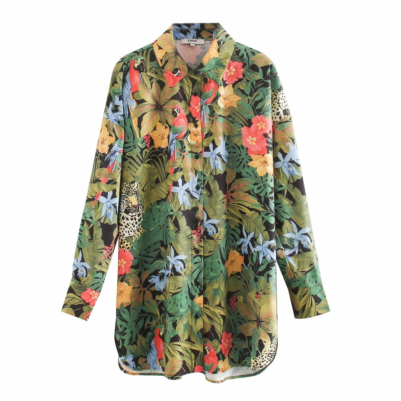 2020 Spring Summer New Grand Prix Loose Long Zaraing Women Blouse Shirt Sheining Vadiming Female Ladies Plus Size Shirt XDN9533