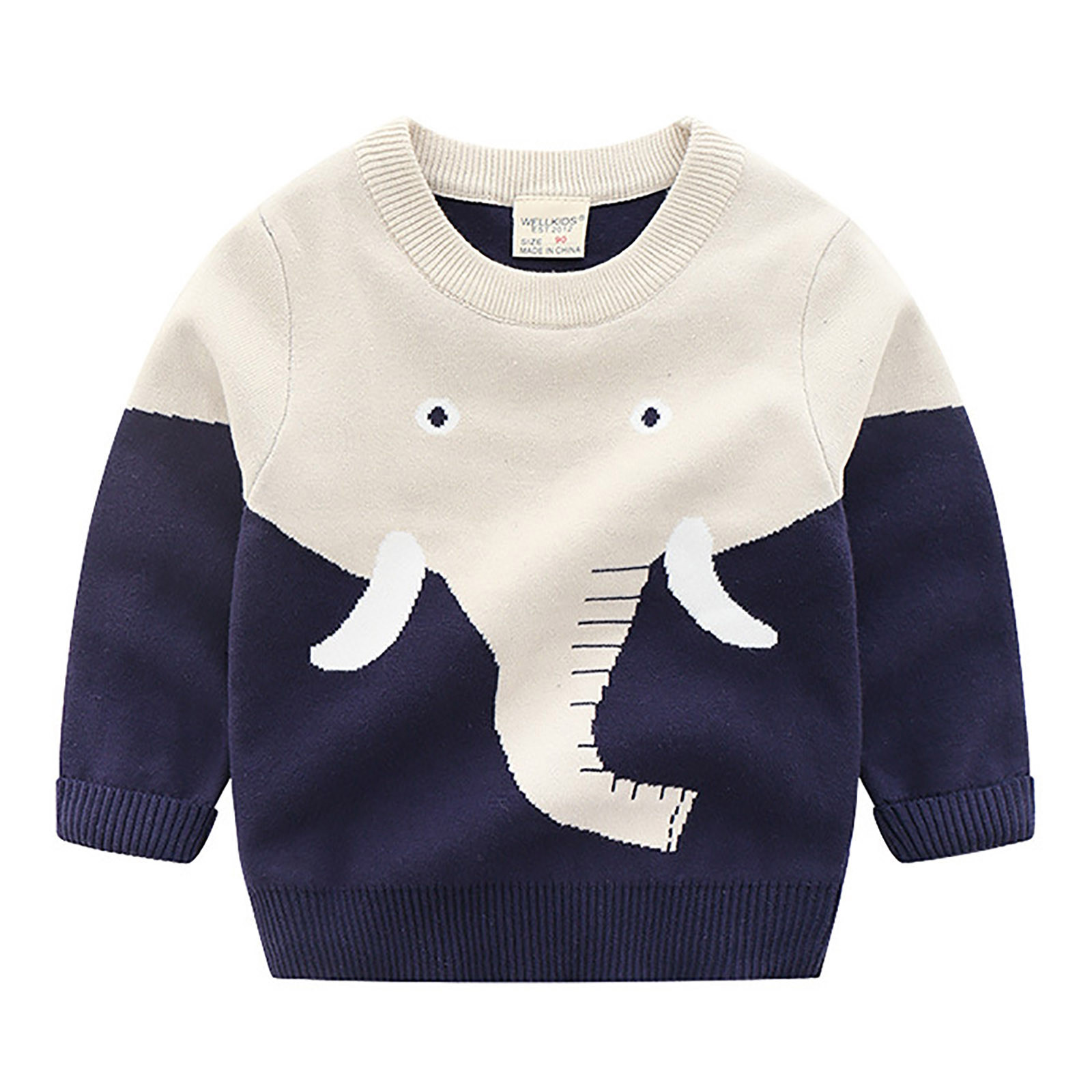 baby clothes Hoodies for boys  Sweatshirts Infant Kid Baby Boys Cartoon Print TopsCartoon Print Knitted Top For Infant Boys