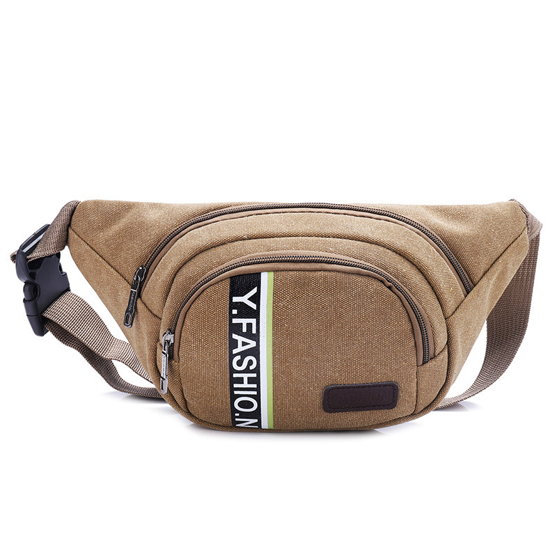 Men's Bag Canvas Waist Pack-Style Multi-functional Sports Shoulder Outdoor Casual Wallet Top