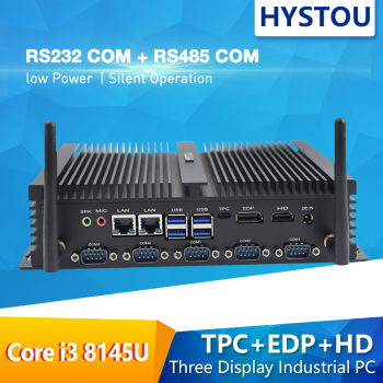 Gaming Computer Industrial Pc i7 Mini Pc  core i5 8265U i3 8145U Hystou dual DDR4 HD EDP support 3 display SIM Port pc type-c