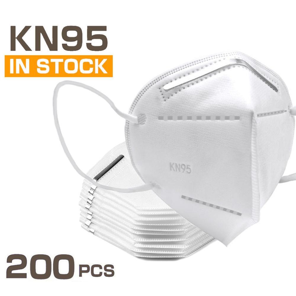 50PCS 100PCS 200PCS Face Mask Adult Mask Reusable Mouth Masks Non Woven PM2.5 Face Masks Face Masks Free Shipping