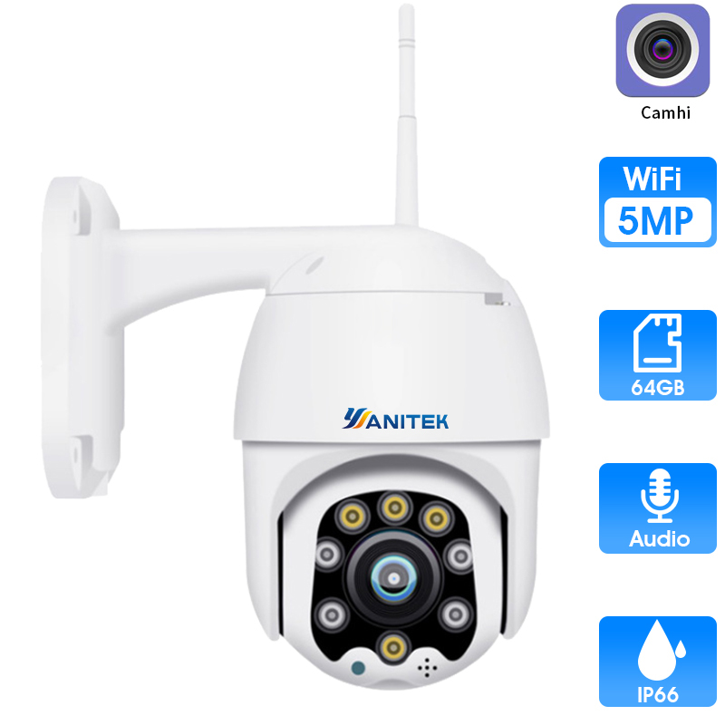 4X ZOOM Wireless PTZ Speed Dome 1080P IP Camera WiFi Outdoor 5MP Two Way Audio CCTV Security Video Surveillance Camera P2P