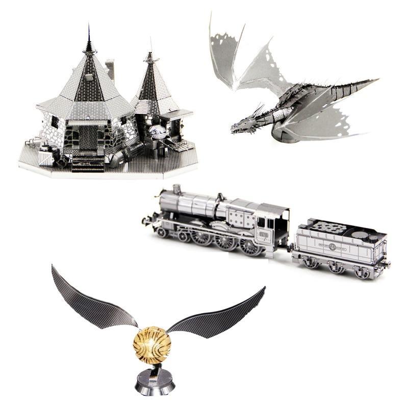 Hagrid Cottage Dragon 3D Metal Puzzle Model Kits DIY Laser Cut Assemble Jigsaw Toy Desktop Decoration GIFT For Adult Children
