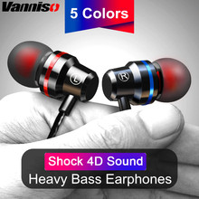 Vanniso 4D Wired Earbuds Headphones 3.5mm In Ear Earphone Earpiece With Mic Stereo Headset For Samsung Xiaomi Huawei Computer все цены