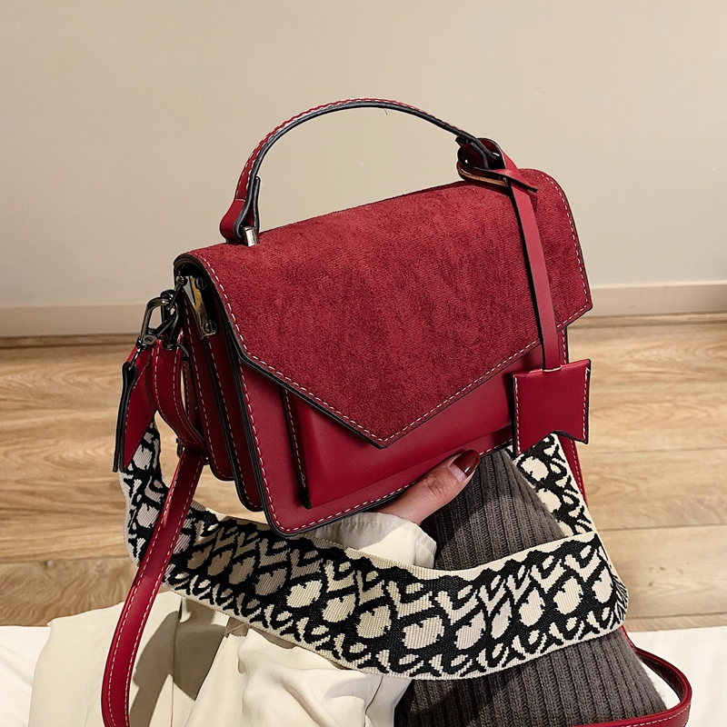 Hand Crossbody Bags For Women 2019 Winter New Highquality Frosted Leather Handbag Fashion Ladies Mini Shoulder Messenger Bag Red