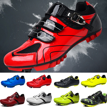 цена на MTB  Cycling Shoes Men Outdoor Sport Bicycle Shoes Self-Locking Professional Racing Road Bike Shoes zapatillas ciclismo