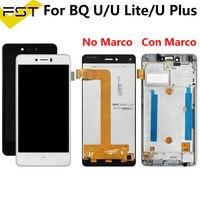 100% getestet Für BQ Aquaris U plus/U lite LCD Display + Touch Screen Digitizer Montage für BQ U LCD Pantalla Tactil Con Marco