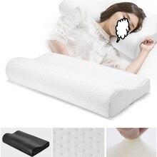 Ортопедическая подушка для сна, бамбуковый уголь, пена с эффектом памяти, защита шейки, облегчение боли в шее и плечах для взрослых с наволочкой