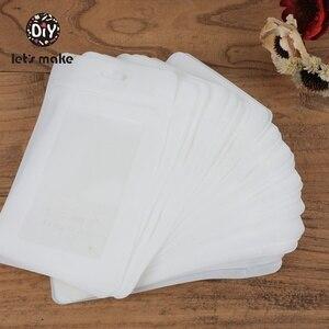 Image 3 - دعونا جعل أكياس بلاستيكية بيضاء 100 قطعة (19.5x11.5 سنتيمتر) عرض أكياس BPA الحرة الطفل اللعب حزمة تظهر لكمة قلادة أكياس اكسسوارات