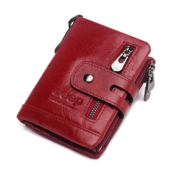 Luxury Designer Men Wallet Genuine Leather Bifold Short Wallets Male Hasp Vintage Purse Coin Pouch Multi-functional Cards Pocket 9