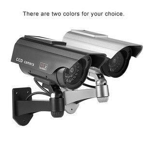 Поддельная камера солнечной энергии пустышка камера водонепроницаемый открытый безопасности CCTV Манекен наблюдения камера пуля с светодио...