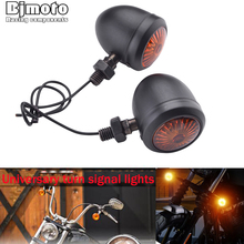 2PCS Moto Indicatori di direzione indicatore luminoso retro Proiettile Lampeggiatori LED blubs lampada Per Harley Honda Suzuki Yamaha Kawasaki ATV