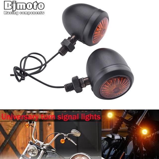 2PCS Motorcycle Turn Signals indicator Light retro Bullet Flashers LED blubs lamp For Harley Honda Suzuki Yamaha Kawasaki ATV