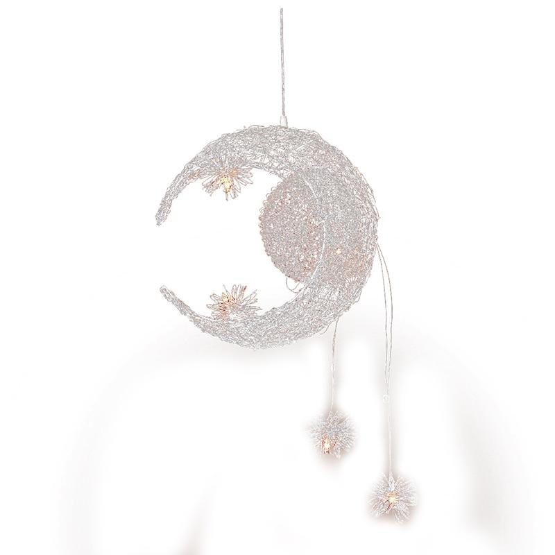 Moon & Star Sweet Bedroom Lighting Pendant Lamp Chandelier Ceiling Light Fixture