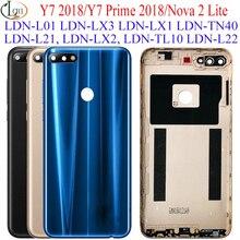 Couvercle de batterie arrière pour Huawei Y7 Prime 2018, pièces de rechange, LDN L22 LX2 L21 LX3, 2018