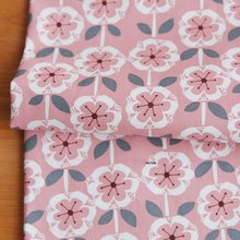 50X150cm 100%Cotton Canvas Pink Flower Printed Fabric DIY Tablecloth Sofa Cover Pillowcase Home Textiles Patchwork Sewing Tissue(China)