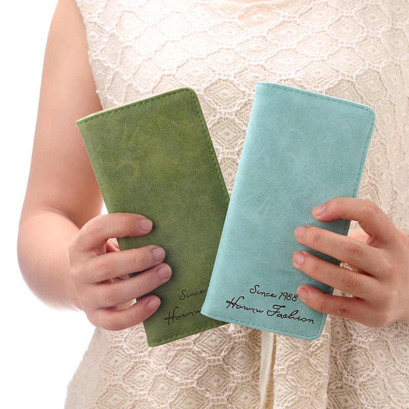 Длинный женский кошелек, дамские ручные сумки, кошелек из искусственной кожи, повседневные рабочие кошельки с отделением для карт, прочный