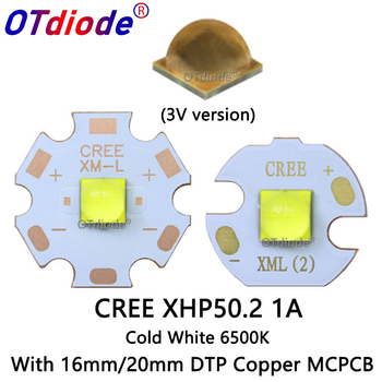 Newset 3V Cree XHP50 2 1A Cold White 6500-7000K 2nd generation LED Bead Diode Lamp 3V Version 6A with 20mm 16mm DTP Copper MCPCB tanie i dobre opinie OTdiode Piłka XHP50 2 LED