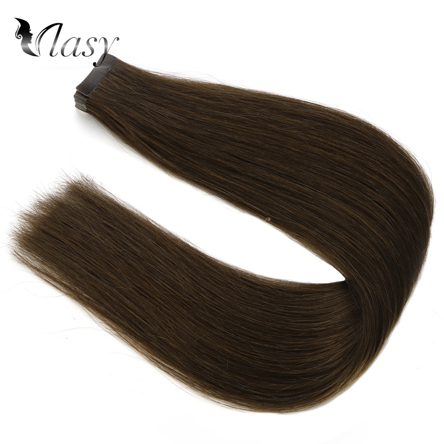 Vlasy 20'' 2.5g/pc Tape In Hair Extensions 100% Real Remy Human Hair Straight Double Drawn Invisible Adhesive On Hair Extensions